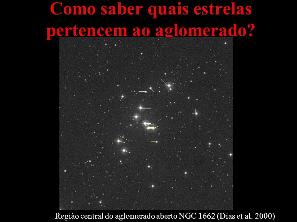 Como saber quais estrelas pertencem ao aglomerado