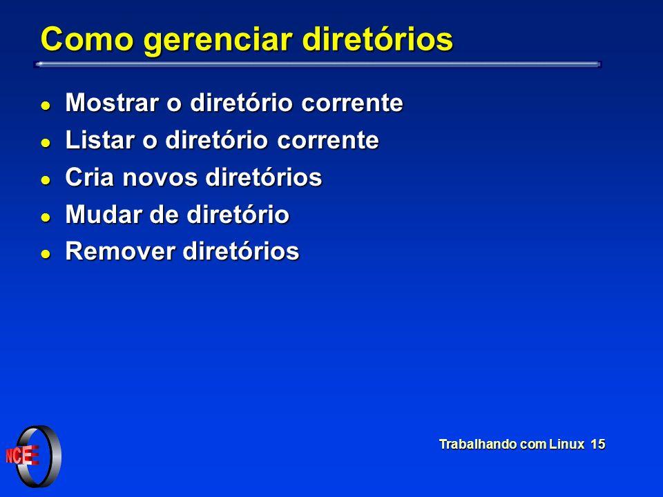Como gerenciar diretórios