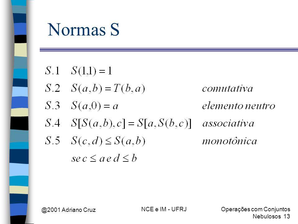 Normas S @2001 Adriano Cruz NCE e IM - UFRJ