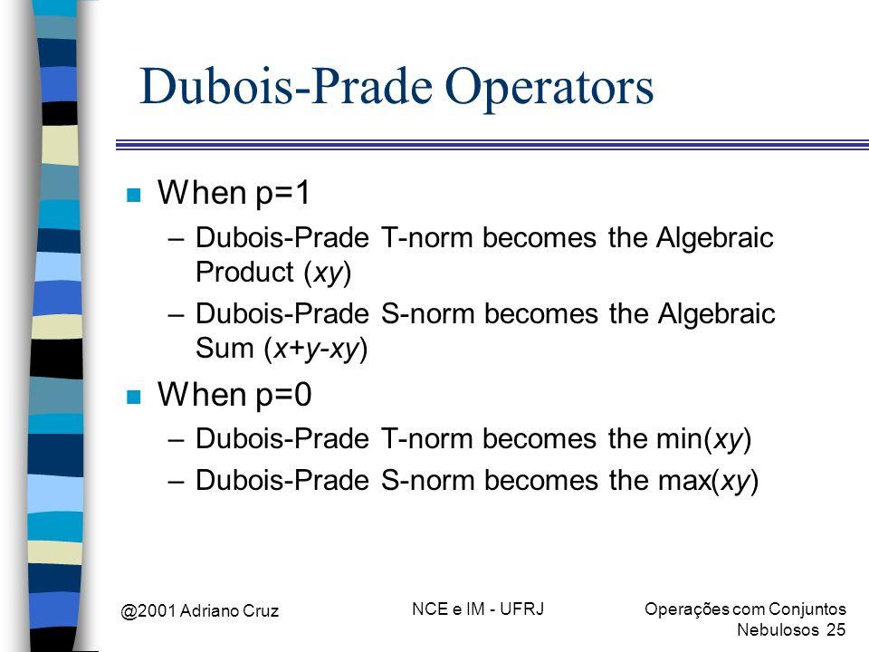 Dubois-Prade Operators