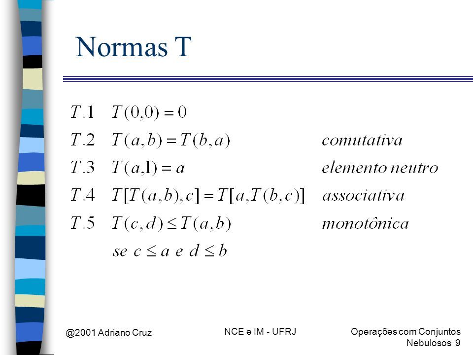 Normas T @2001 Adriano Cruz NCE e IM - UFRJ