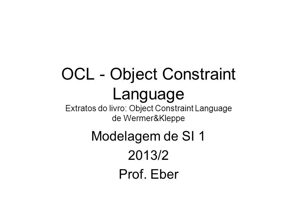 Modelagem de SI 1 2013/2 Prof. Eber