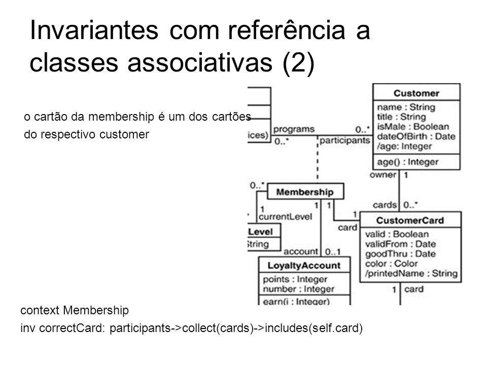 Invariantes com referência a classes associativas (2)
