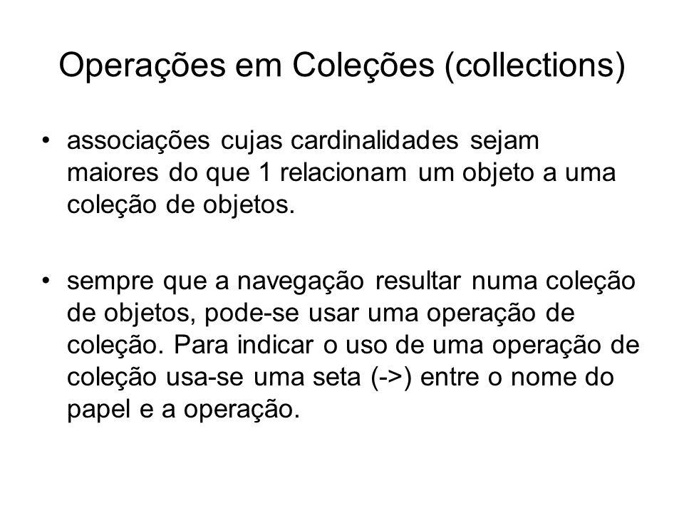 Operações em Coleções (collections)