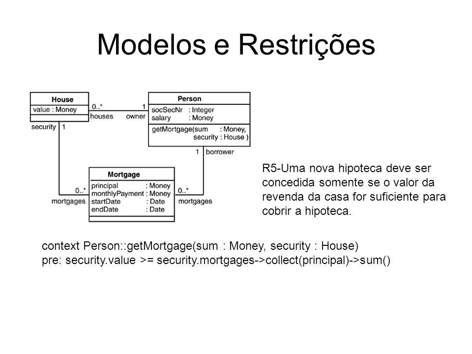 Modelos e RestriçõesR5-Uma nova hipoteca deve ser concedida somente se o valor da revenda da casa for suficiente para cobrir a hipoteca.