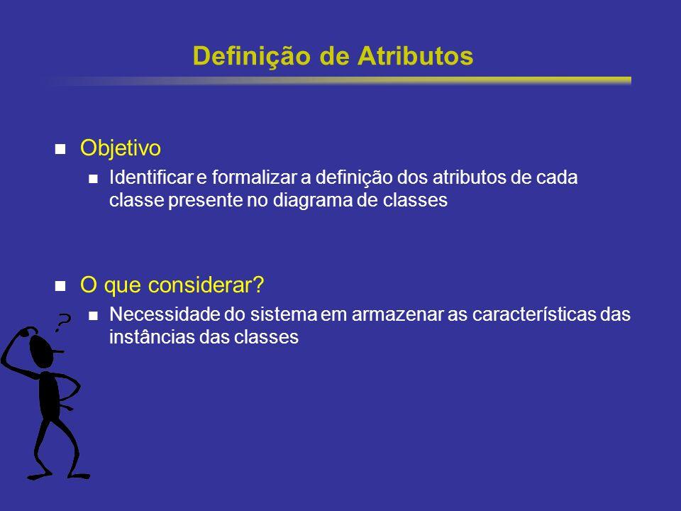 Definição de Atributos