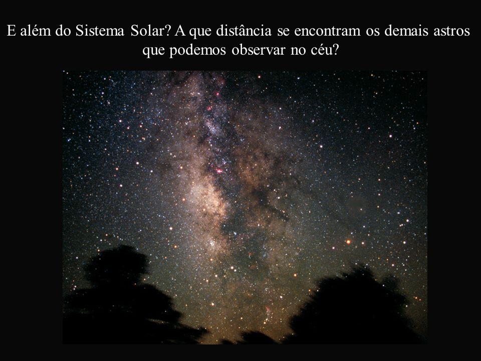 E além do Sistema Solar A que distância se encontram os demais astros