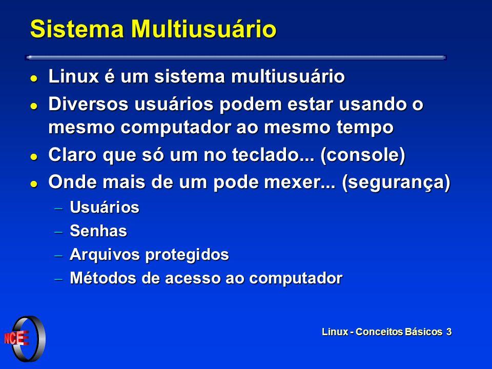 Sistema Multiusuário Linux é um sistema multiusuário