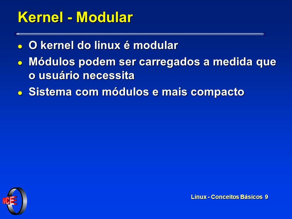 Kernel - Modular O kernel do linux é modular
