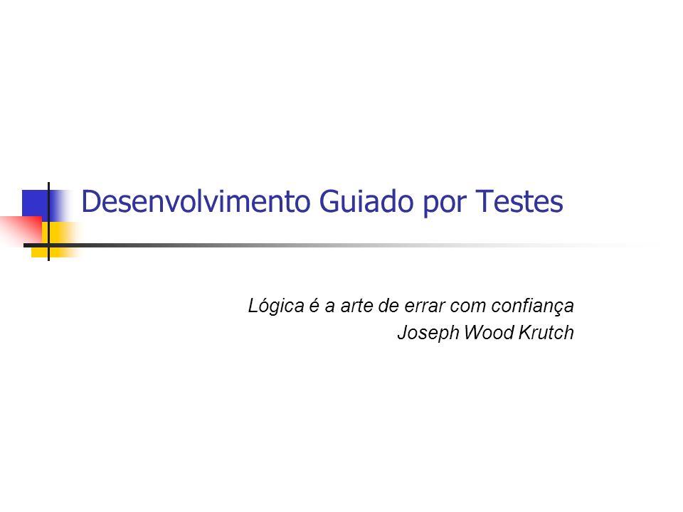 Desenvolvimento Guiado por Testes