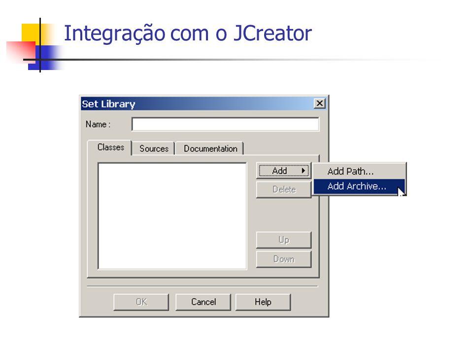 Integração com o JCreator