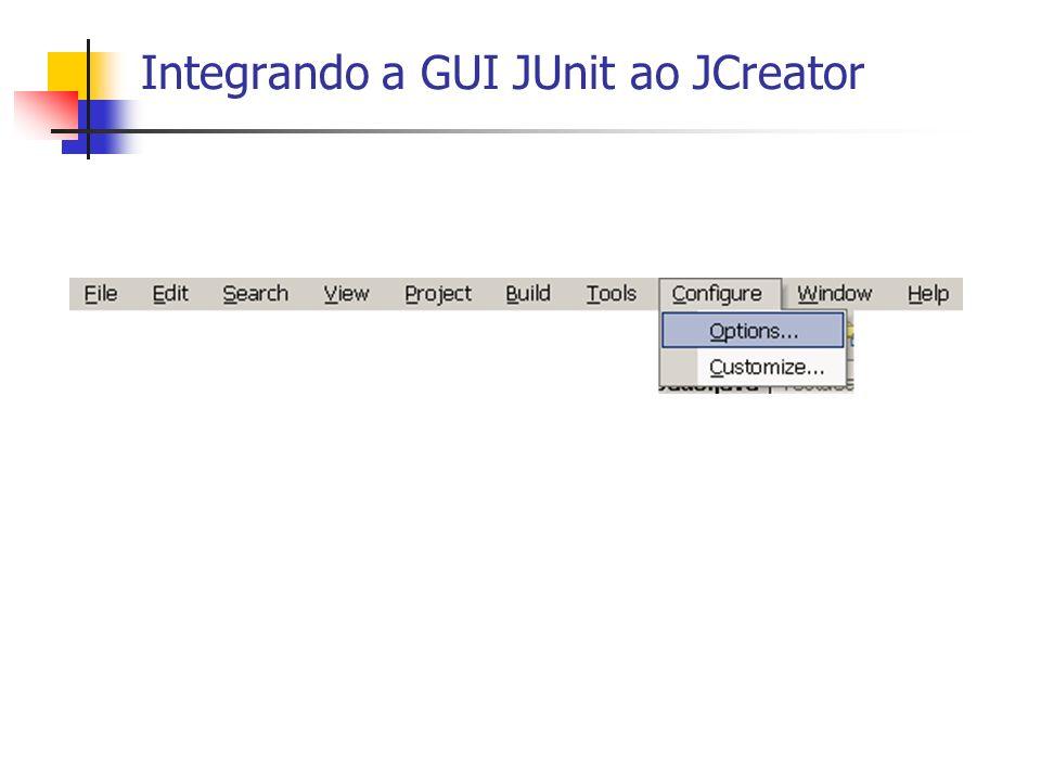 Integrando a GUI JUnit ao JCreator