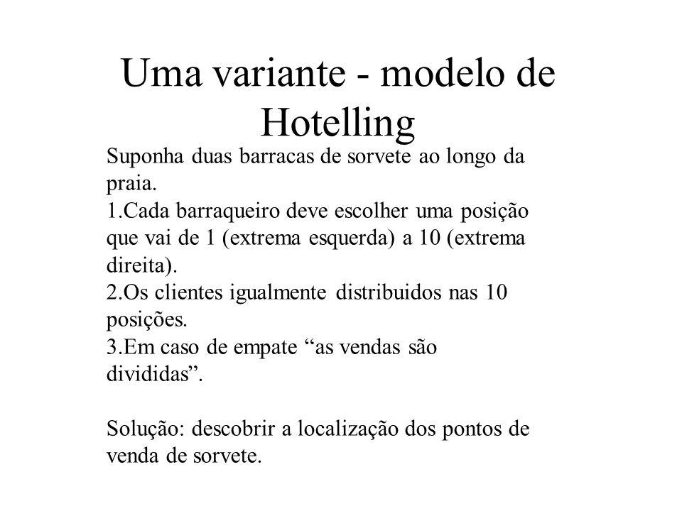 Uma variante - modelo de Hotelling