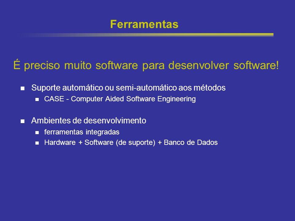 É preciso muito software para desenvolver software!