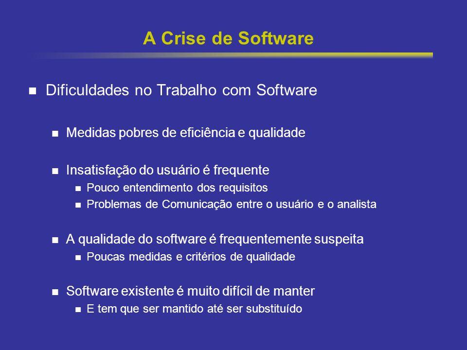 A Crise de Software Dificuldades no Trabalho com Software