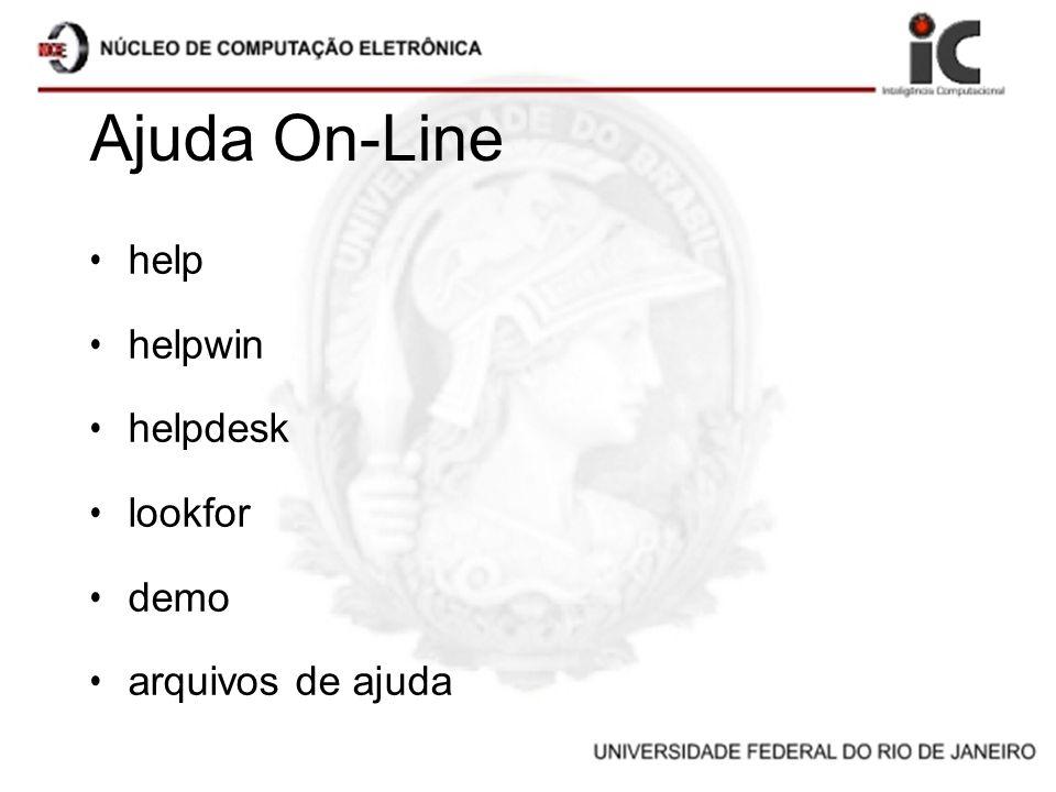 Ajuda On-Line help helpwin helpdesk lookfor demo arquivos de ajuda