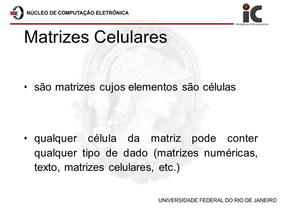 Matrizes Celulares são matrizes cujos elementos são células