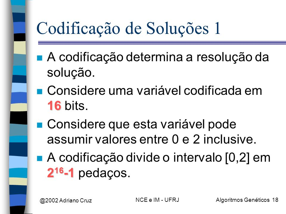 Codificação de Soluções 1