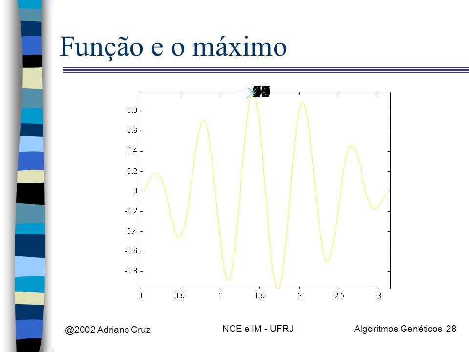 Função e o máximo @2002 Adriano Cruz NCE e IM - UFRJ