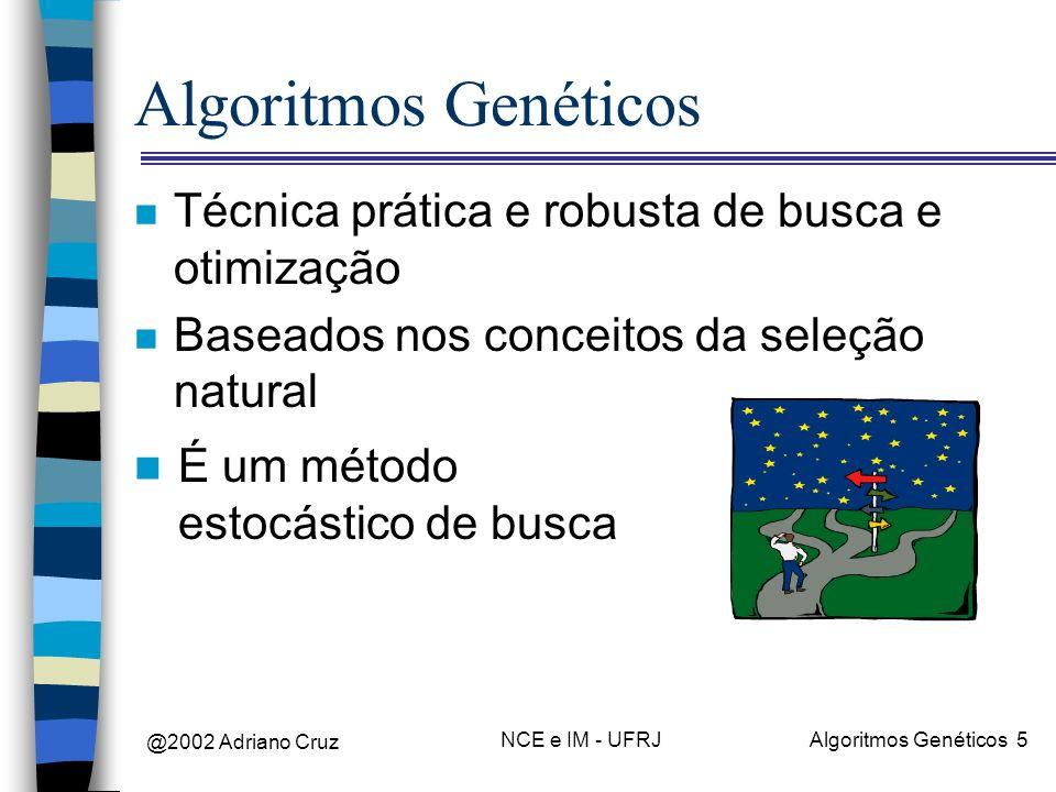 Algoritmos Genéticos Técnica prática e robusta de busca e otimização