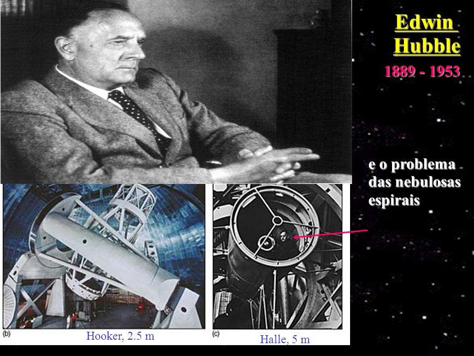 Edwin Hubble 1889 - 1953 e o problema das nebulosas espirais