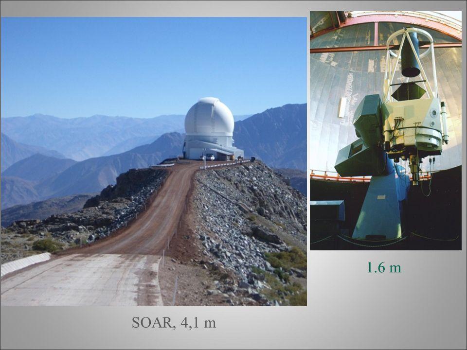 1.6 m OPD - LNA, 1.6 m OPD - LNA, 1.6 m SOAR, 4,1 m