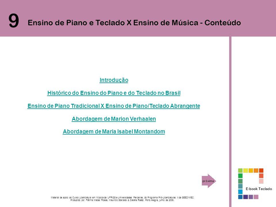 9 Ensino de Piano e Teclado X Ensino de Música - Conteúdo Introdução