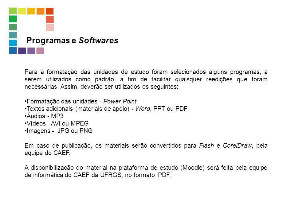 Programas e Softwares