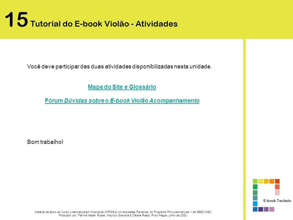 15 Tutorial do E-book Violão - Atividades