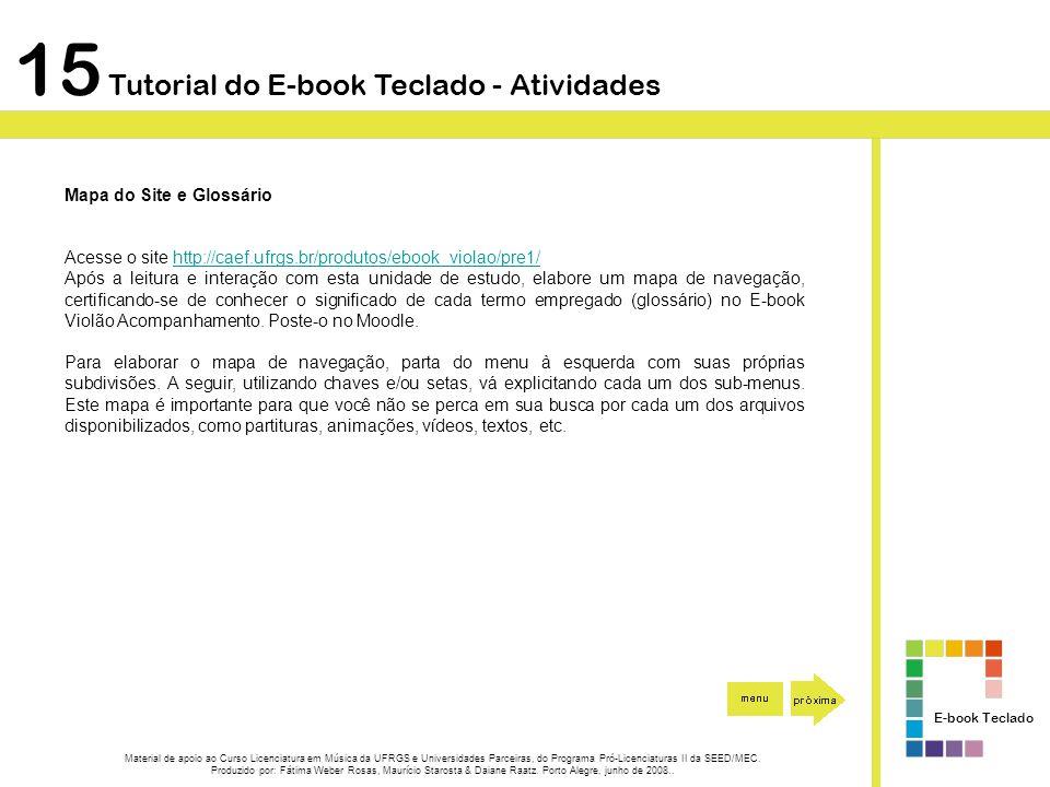 15 Tutorial do E-book Teclado - Atividades