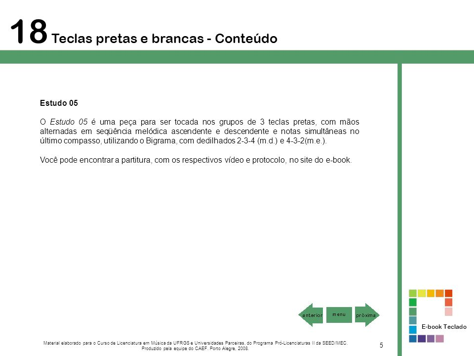 Produzido pela equipe do CAEF. Porto Alegre, 2008.