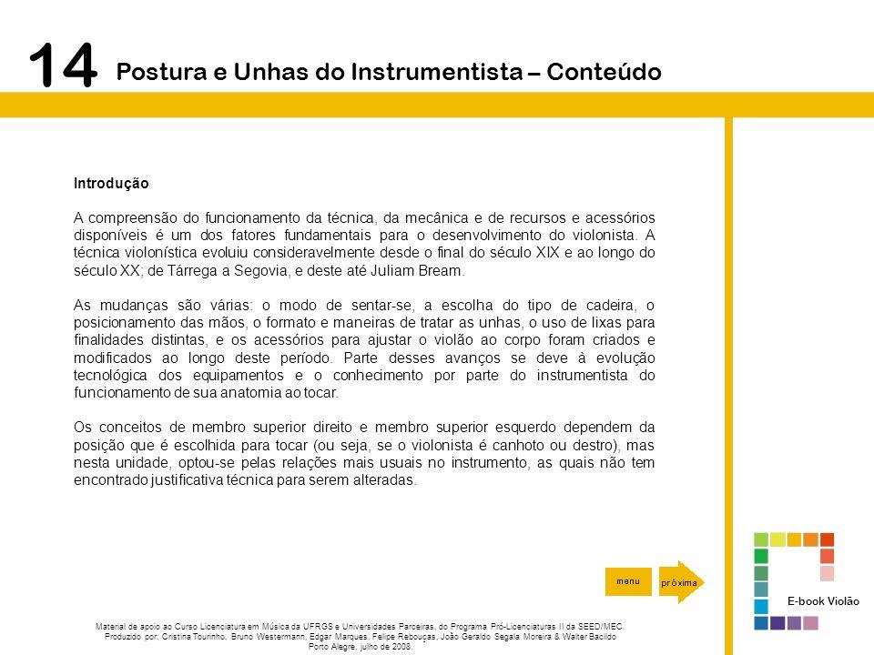 14 Postura e Unhas do Instrumentista – Conteúdo Introdução