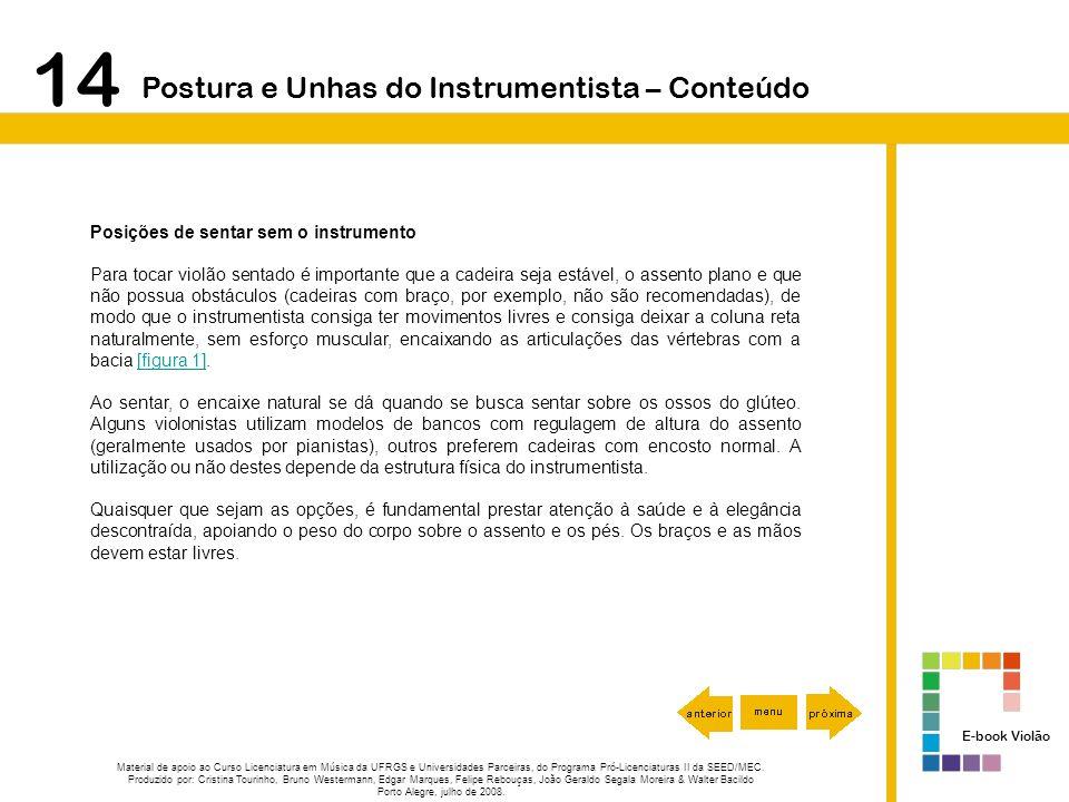 14 Postura e Unhas do Instrumentista – Conteúdo
