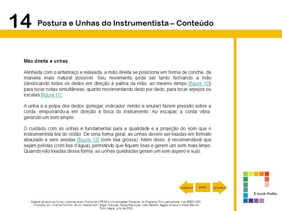14 Postura e Unhas do Instrumentista – Conteúdo Mão direita e unhas