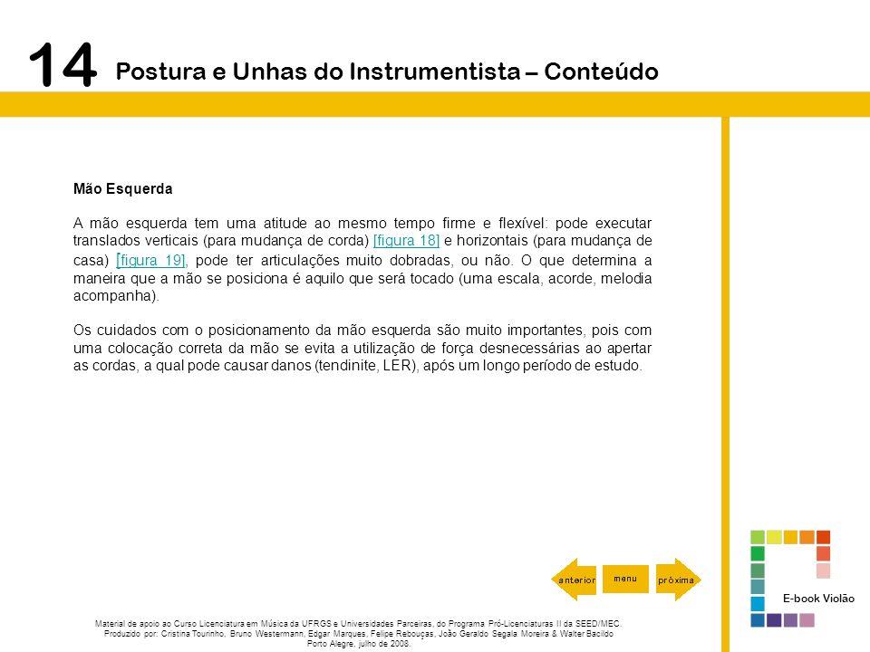 14 Postura e Unhas do Instrumentista – Conteúdo Mão Esquerda