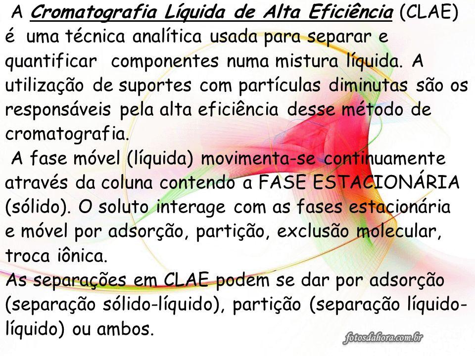 A Cromatografia Líquida de Alta Eficiência (CLAE)