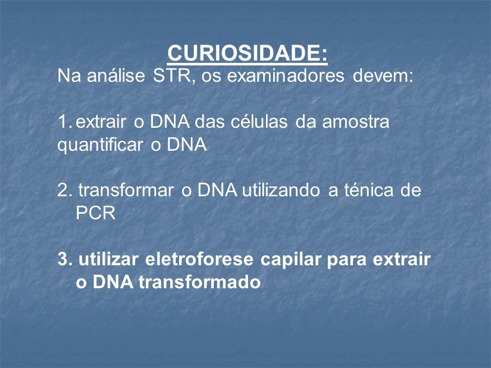CURIOSIDADE: Na análise STR, os examinadores devem: