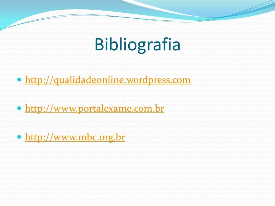 Bibliografia http://qualidadeonline.wordpress.com