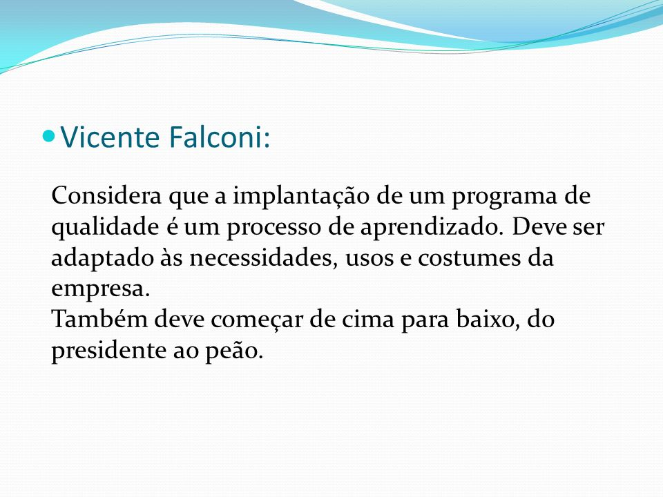 Vicente Falconi: