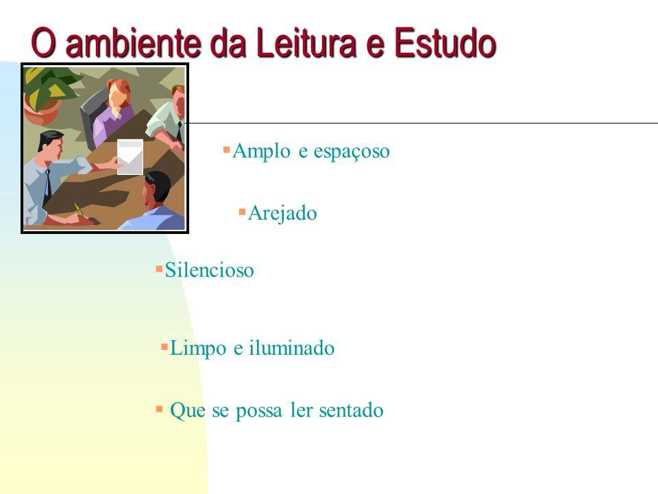 O ambiente da Leitura e Estudo