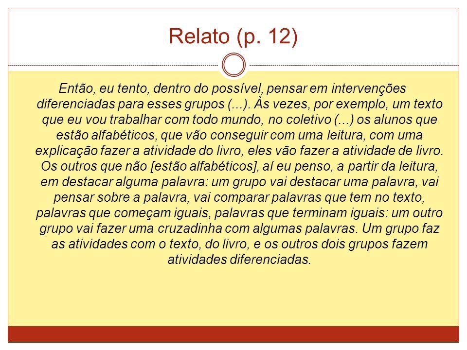 Relato (p. 12)
