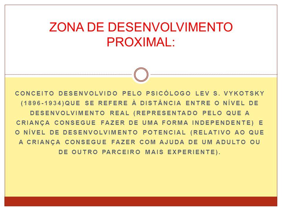 ZONA DE DESENVOLVIMENTO PROXIMAL: