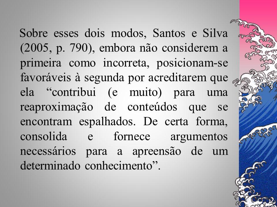 Sobre esses dois modos, Santos e Silva (2005, p