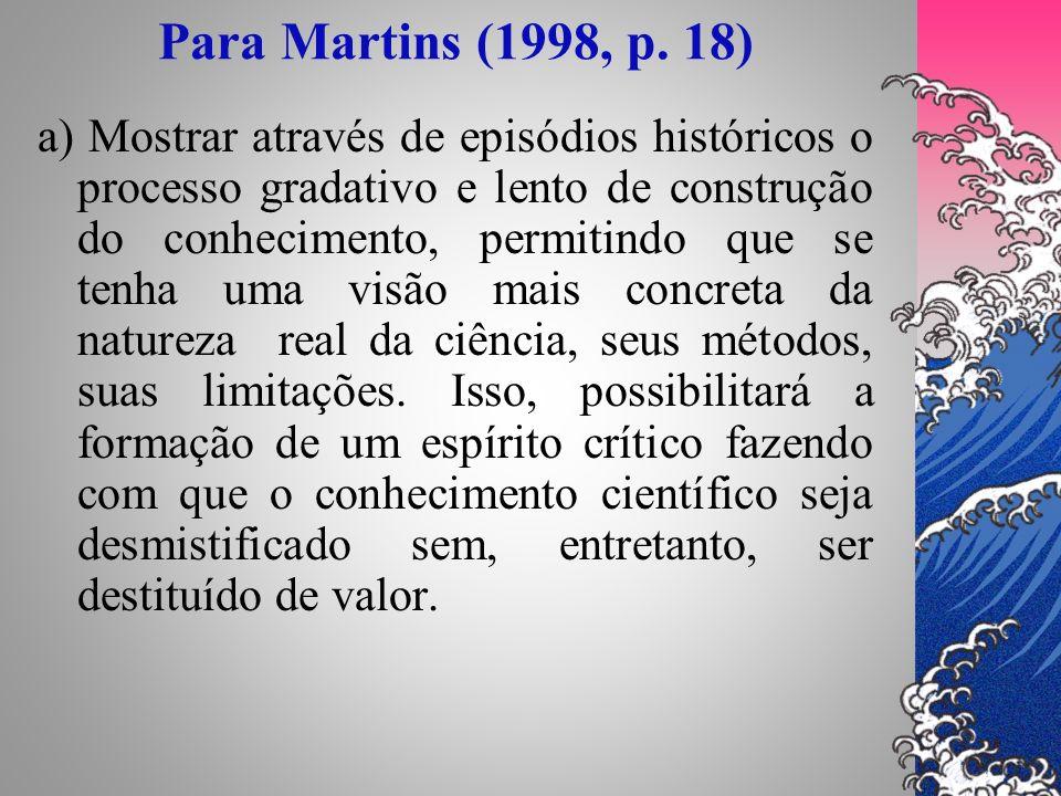 Para Martins (1998, p. 18)