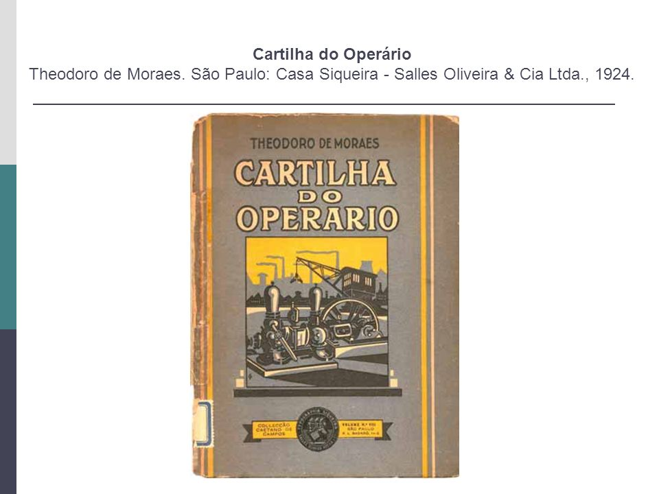 Cartilha do Operário Theodoro de Moraes