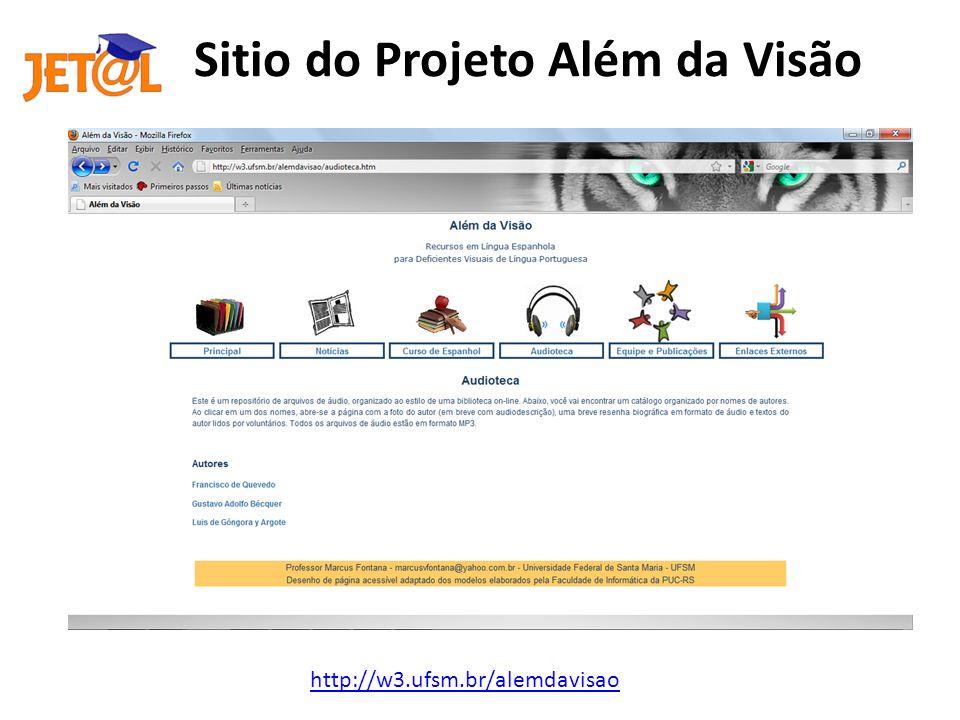 Sitio do Projeto Além da Visão