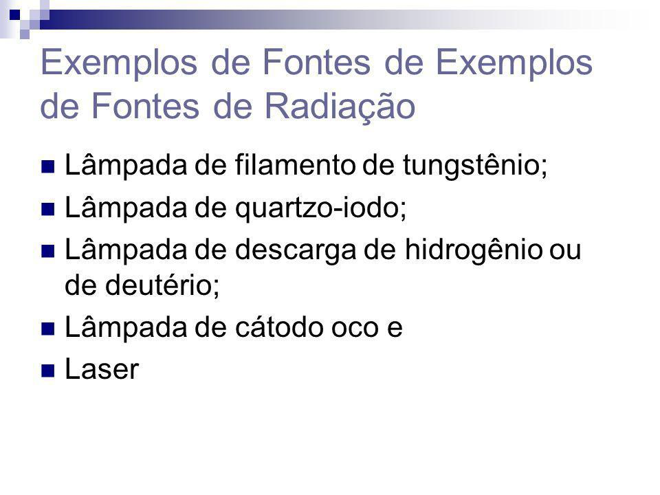 Exemplos de Fontes de Exemplos de Fontes de Radiação