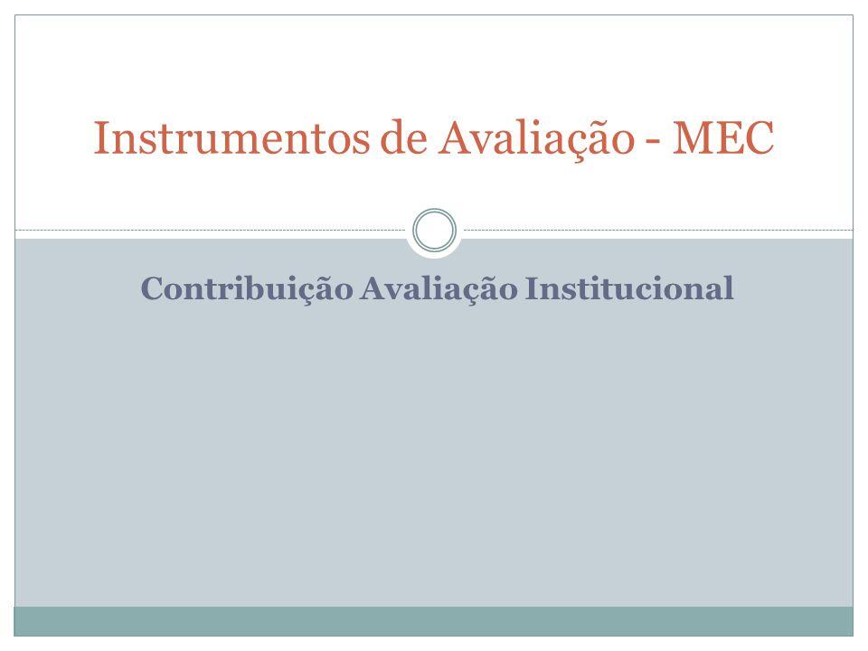 Instrumentos de Avaliação - MEC