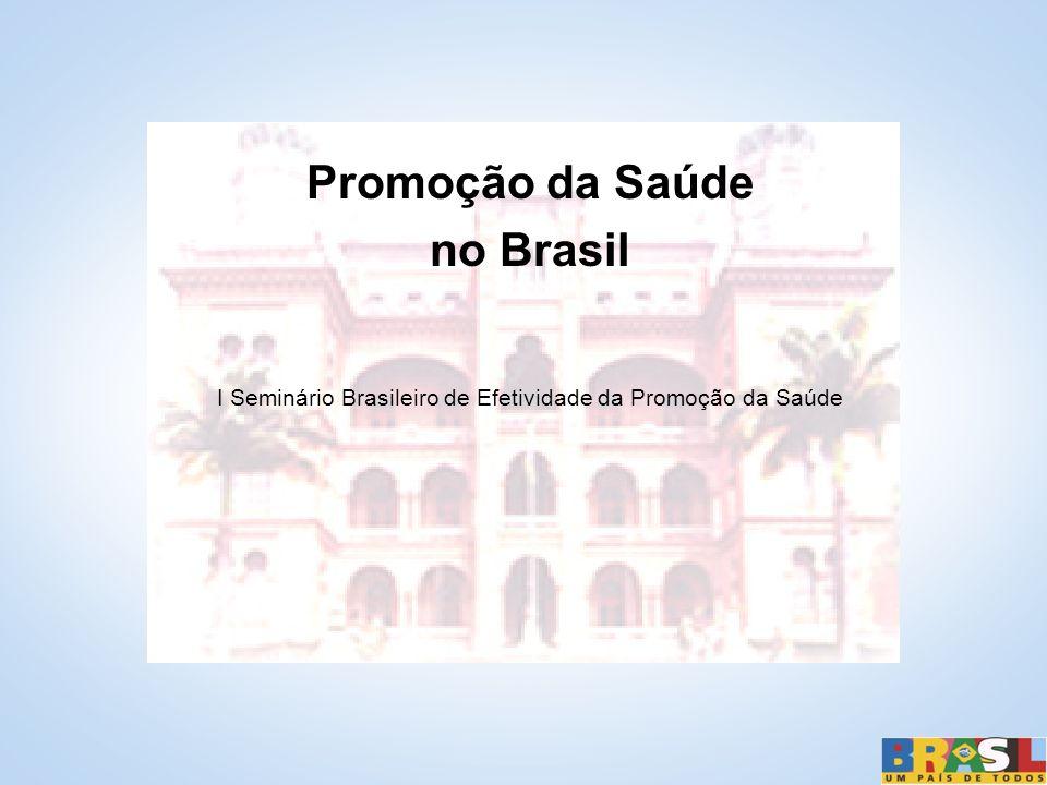 I Seminário Brasileiro de Efetividade da Promoção da Saúde