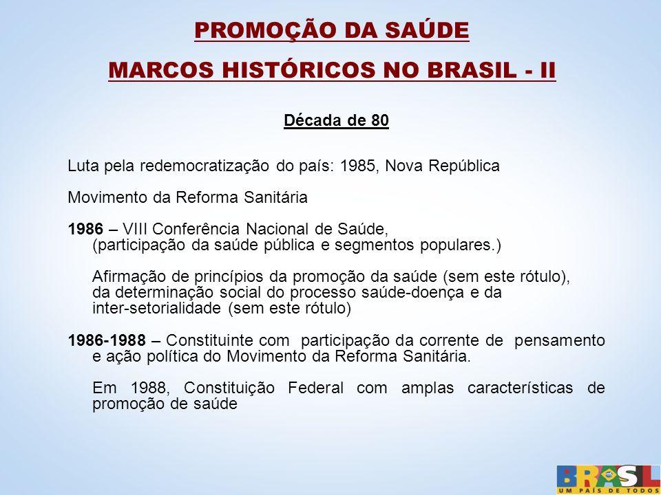 MARCOS HISTÓRICOS NO BRASIL - II